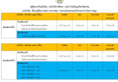 การรับสมัครนักเรียน ม.1 และ ม.4 ประจำปีการศึกษา 2564
